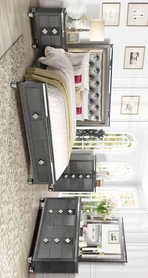 [SPECIAL] Kellen Gray LED Storage Panel Bedroom Set for Sale in Austin, TX
