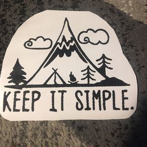 7x7 Keep It Simple Camp Decal for Sale in Williamsburg, MI
