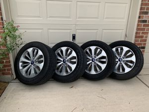 2017 F-150 20 inch factory rims - 275/55R20 Goodyear tires for Sale in Humble, TX