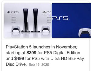 PS5 is not 1,000 or 1,500 people stop being stupid order it from Sony if you can't get it on Amazon or target Walmart ect think about it you buying a for Sale in Bradenton, FL
