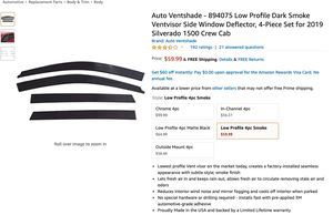AutoVentshade 894075 Low ProfileDark SmokeVentvisorSideWindow Deflecto for Sale in Bloomingdale, GA
