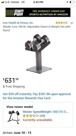 Weider weight set for Sale in Beaver Dam, WI