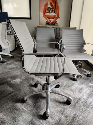 Chrome and gray office chairs for Sale in San Diego, CA