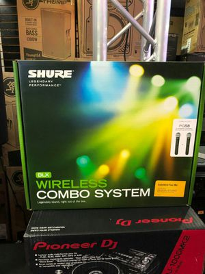 Shure blx wirless combo system on sale today message us for our low black friday deal today for Sale in Downey, CA