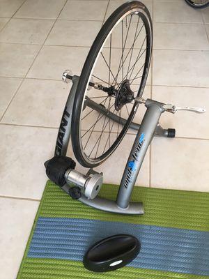 Indoor cycling trainer + indoor wheel for Sale in Miami, FL