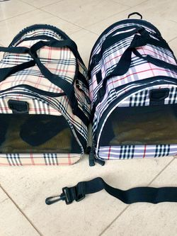 Pink & Tan plaid Designer Airline Approved Pet Dog Carrier Purse for Sale in San Diego,  CA
