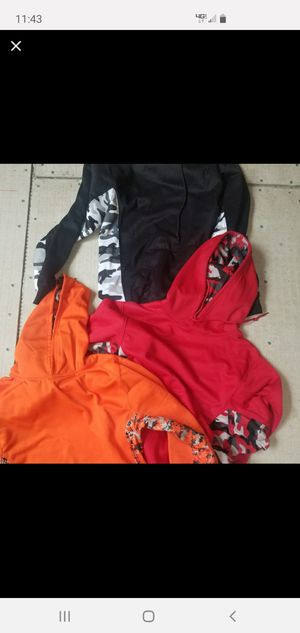 lot of 3 youth hoodie jacket in New condition.....look at pics for sizes they all fit like a medium for Sale in Homestead, FL