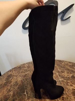 Thigh high black boots for Sale in Phoenix, AZ