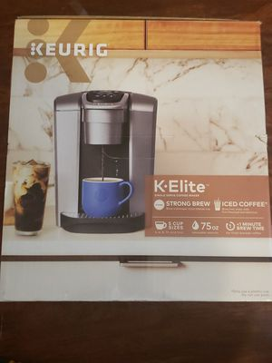 Keurig K-Elite Single-Serve K-Cup Pod Coffee Maker, Brushed Slate, NIB for Sale in Austin, TX