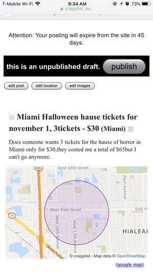 Hause of horror Miami for Sale in Hialeah, FL