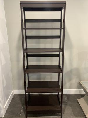 Yaheetech 5-Tier A Frame Wood Ladder Shelf Bookcase Multifunctional Storage Rack Display Shelf for Plants, Dark Espresso for Sale in Cypress, CA