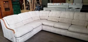 White 2 peice sofa bed & recliner sectional with queen mat. for Sale in Allentown, PA