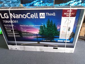 "75"" lg 4k smart nano cell led TV for Sale in Santa Ana, CA"