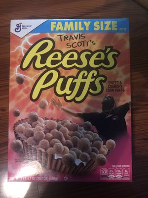 Travis Scott Reese's Puffs Cereal Family Size Cactus Jack for Sale in Garland, TX