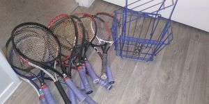 Wilson, Head, Prince, Tennis Rackets and Hoag Basket for Sale in Henderson, NV