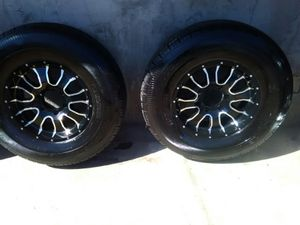 Two Raceline Mamba wheels and TrailXtreme Tires ST 235/80R16 for Sale in Fresno, CA