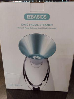 Ezbasics Ionic Facial Steamer (Bonus 5 -piece Stainless Steel skin kit included!) for Sale in Corona, CA