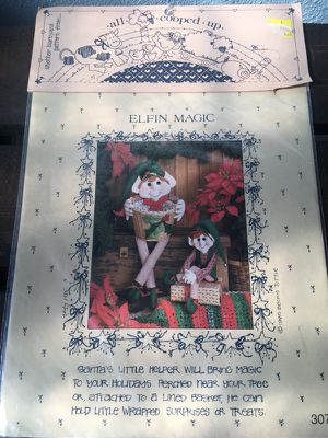 Elf sewing pattern Christmas Decorations Crafts decor for Sale in Colbert, WA