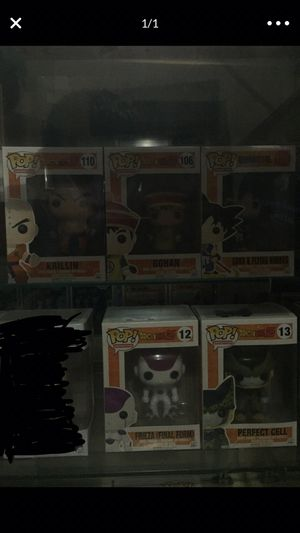 Dragon Ball Z Pops! Krillin, Gohan, Goku & Flying Nimbus, Frieza (Final Form), and Perfect Cell for Sale in Selma, CA