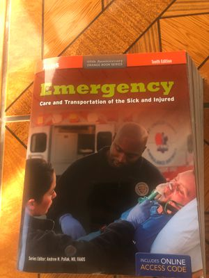 Emergency book EMT - Care and Transportation of the Sick and Injured for Sale in Richmond, CA