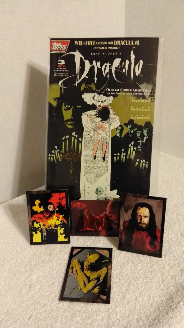 Bram Stoker's 🦇Dracula🦇 Horror Comic + 4 Trading Cards