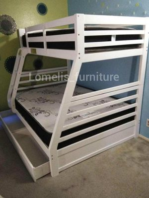 Twin/full bunk beds with mattresses included for Sale in Santa Fe Springs, CA