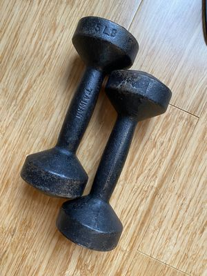 5lb dumbbells- $2 for both for Sale in Durham, NC