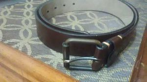 Dark Brown Leather Belt - Large (34-36) for Sale in Vestal, NY