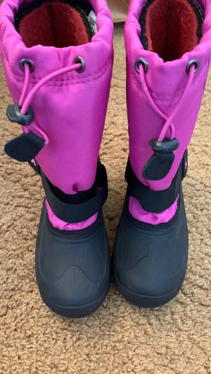 Kamik Snow Boots Girls Size 2 Worn once ...like new. for Sale in Portland, OR
