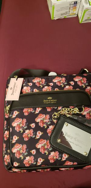 ●PICK UP BELL GARDENS● NEW JUICY COUTURE BLACK/ROSE CROSSBODY PURSE for Sale in Bell Gardens, CA