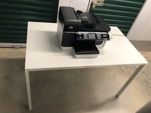 Ikea Office Desk with FREE HP Printer and New Cartridge with a FREE Christmas tree and all its ornaments and lightings total originally $200 at Kohl's for Sale in McLean, VA