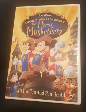 Mickey Donald Goofy The Three Musketeers DVD for Sale in Columbia, SC