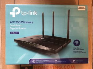 TP-Link Archer A7 AC1750 Wireless Dual Band Gigabit WiFi Router 3 Antenna (NEW) for Sale in Stafford, TX