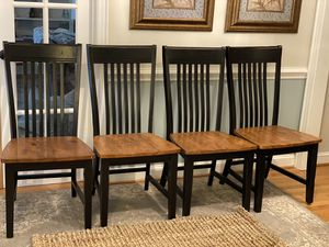 Set of 4 Farmhouse Black Dining Chairs for Sale in Charlotte, NC