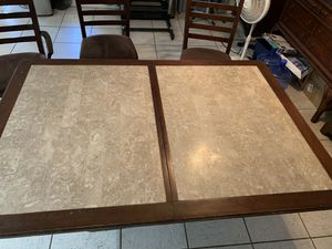 Marble 8' kitchen table for Sale in North Las Vegas, NV