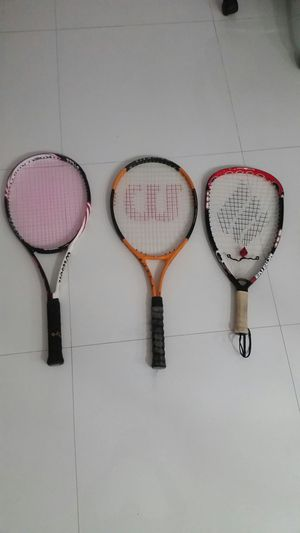 Tennis and racquetball racquets for Sale in Plantation, FL