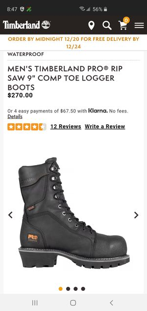 """TIMBERLAND PRO RIP SAW 9"""" COMP TOE LOGGER BOOTS for Sale in Mill Creek, WA"""