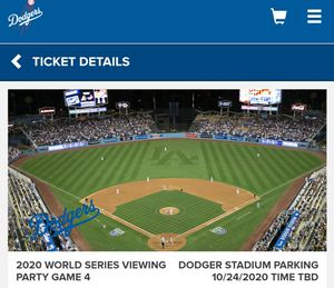 Dodgers World Series viewing party game 4, saturday 10/24/20 for Sale in Garden Grove, CA
