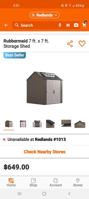 RUBBERMAID SHED for Sale in Redlands, CA