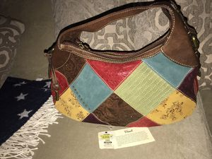 FOSSIL PATCHWORK HOBO LARGE LEATHER BAG for Sale in Winter Springs, FL