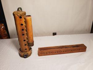 "*P-L-E-A-S-E READ Post* Incense Set -Wooden Tower Burner - 11"" H & Wooden Ash Catcher - 11 3/4"" L for Sale in White Plains, MD"