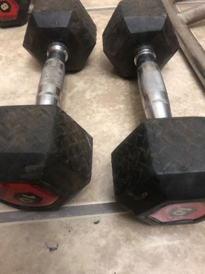20lbs total pair neoprene dumbbells weights fitness for Sale in Oxnard, CA