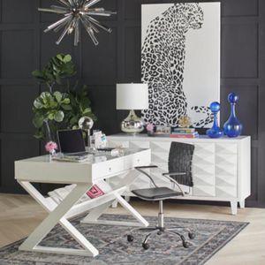 Zgallerie White Lacquer Desk for Sale in Morristown, NJ