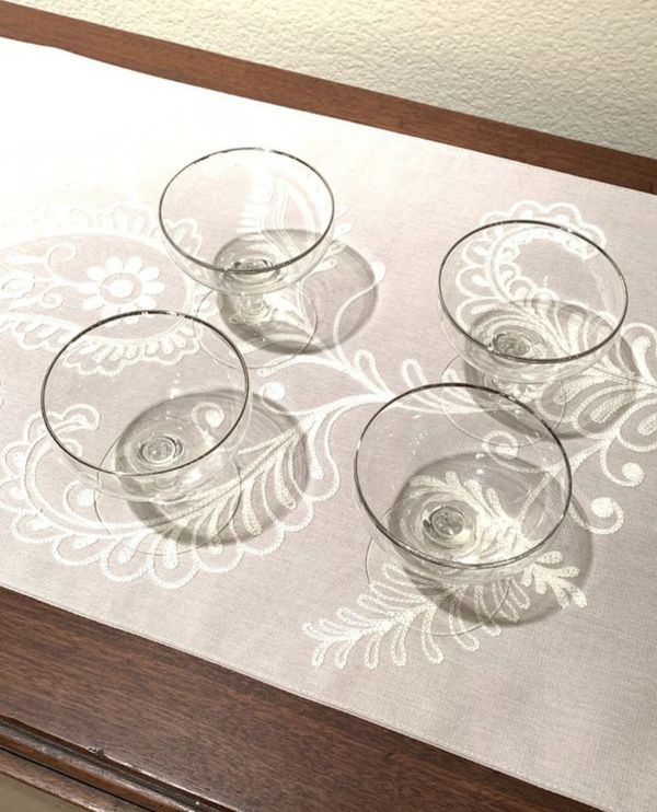 Shabby Chic Coupe Glasses