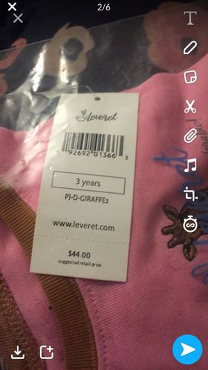 pajamas with matching set for doll baby for Sale in Chantilly, VA