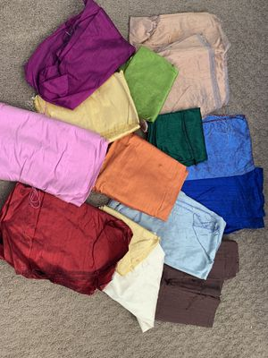 Large lot of 100% silk shantung/dupioni fabric approx 16 yards for Sale in Austin, TX