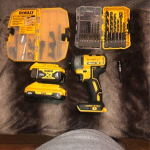 Impact Drill Set With 2 Batteries for Sale in Swansea, SC