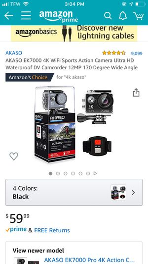 Akaso 4K Action Camera NEW!!!! for Sale in Henderson, KY