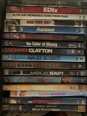 One Fine Day, Clayton, The color of Money, American Beauty DVD Movies for Sale in Fremont, CA