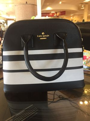 Kate Spade Purse Black and White Stripe for Sale in High Point, NC